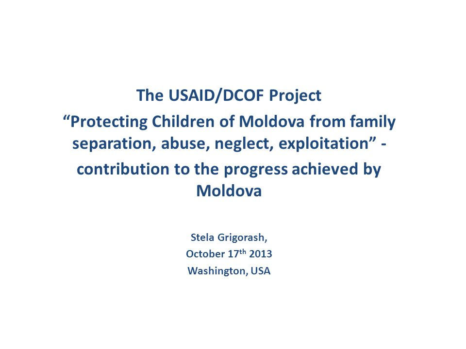 The USAID/DCOF Project