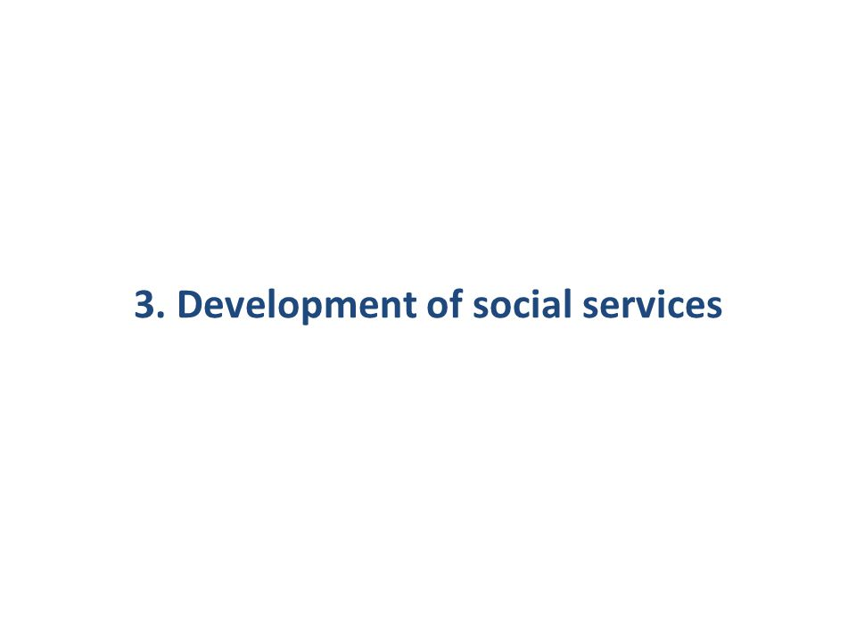 3. Development of social services