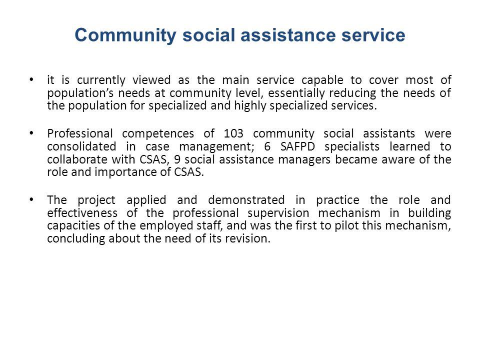 Community social assistance service