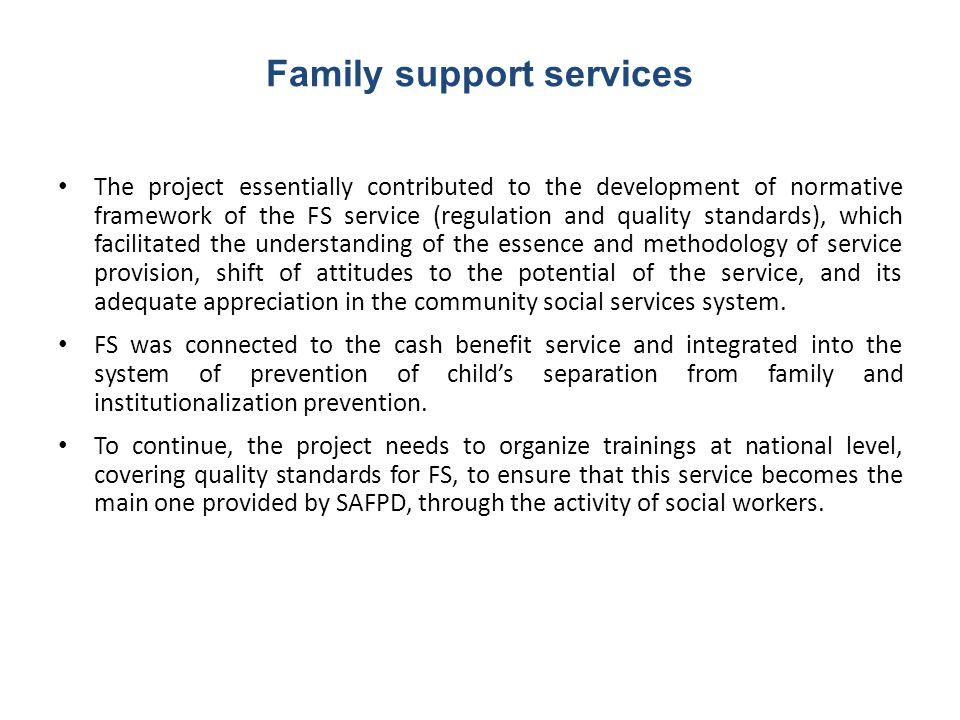 Family support services