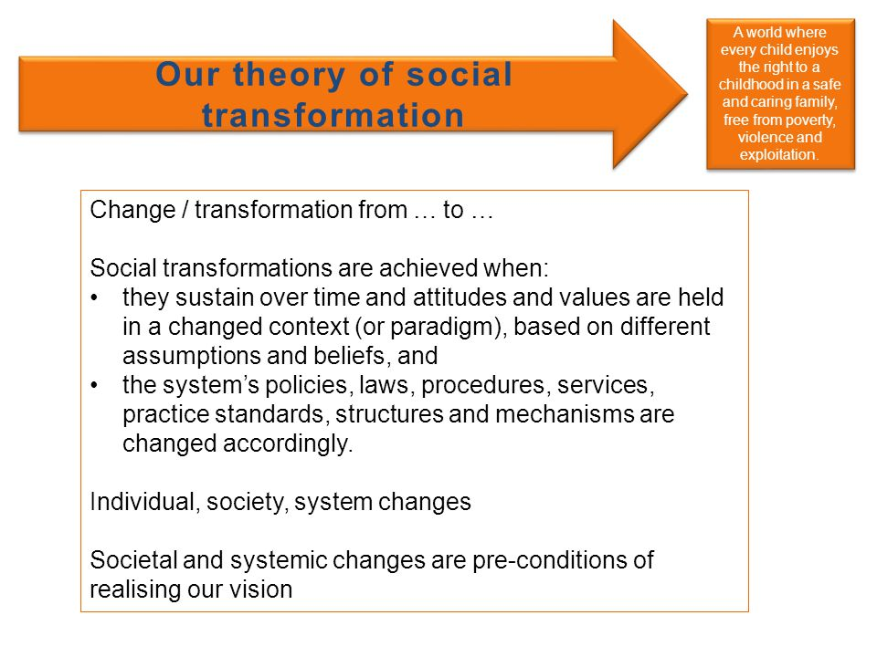 Our theory of social transformation