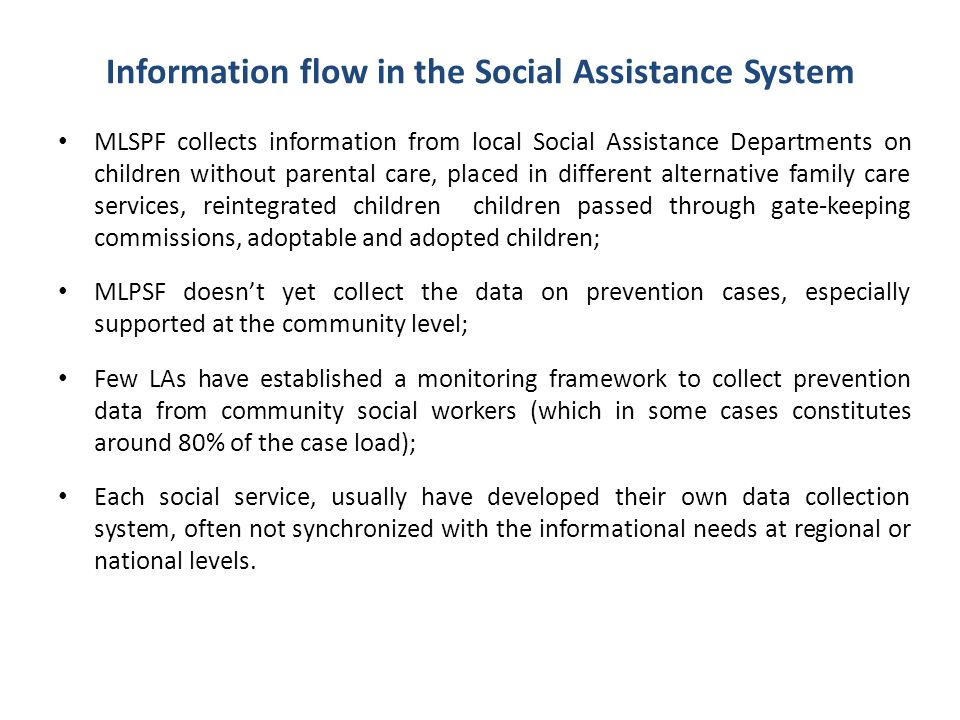 Information flow in the Social Assistance System