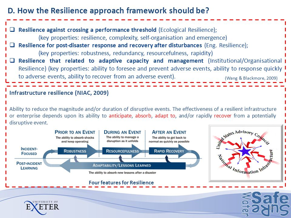 D. How the Resilience approach framework should be