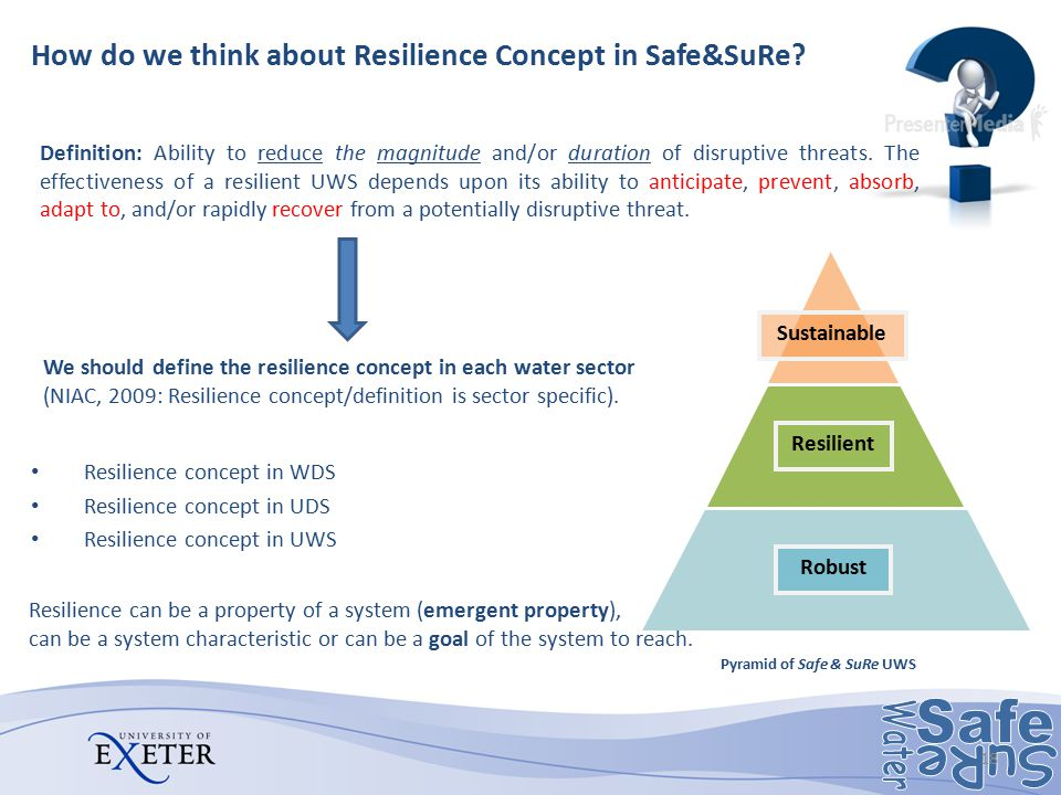 How do we think about Resilience Concept in Safe&SuRe