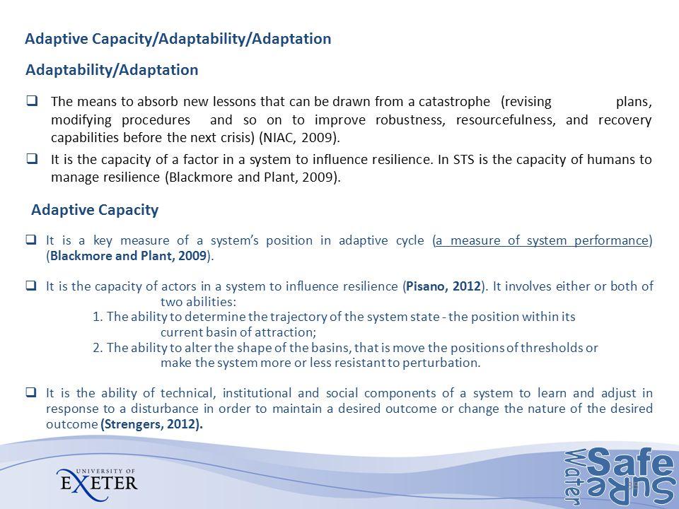Adaptability/Adaptation