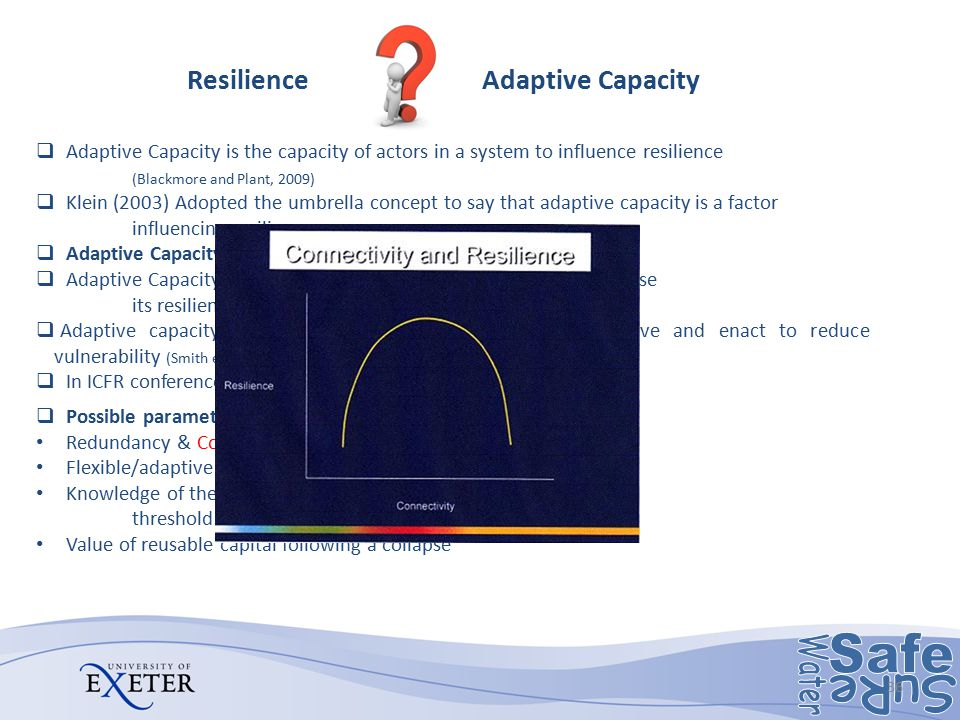 the concept of resilience adaptation process and the determinants of resilience capacity to determin Capacity and family resilience as a process the  protective factors that  contribute to families being resilient, (c) the nature  stress models that  emphasize adaptation processes in families  the concept of resilience  emerged primarily from.