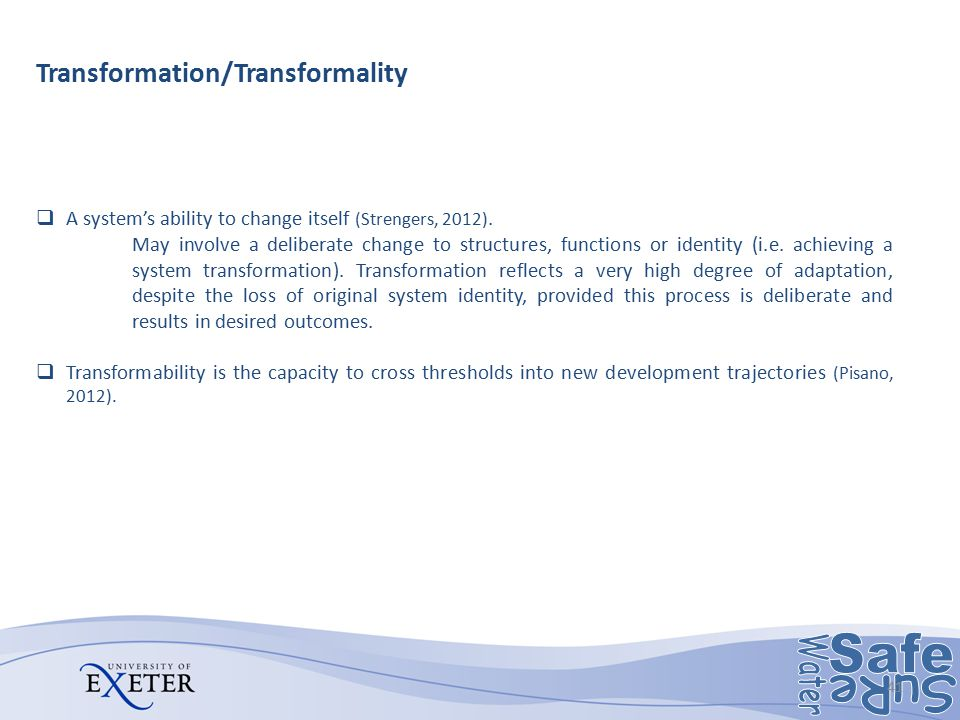 Transformation/Transformality