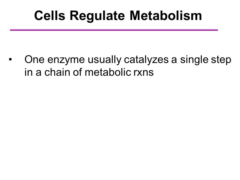 Cells Regulate Metabolism