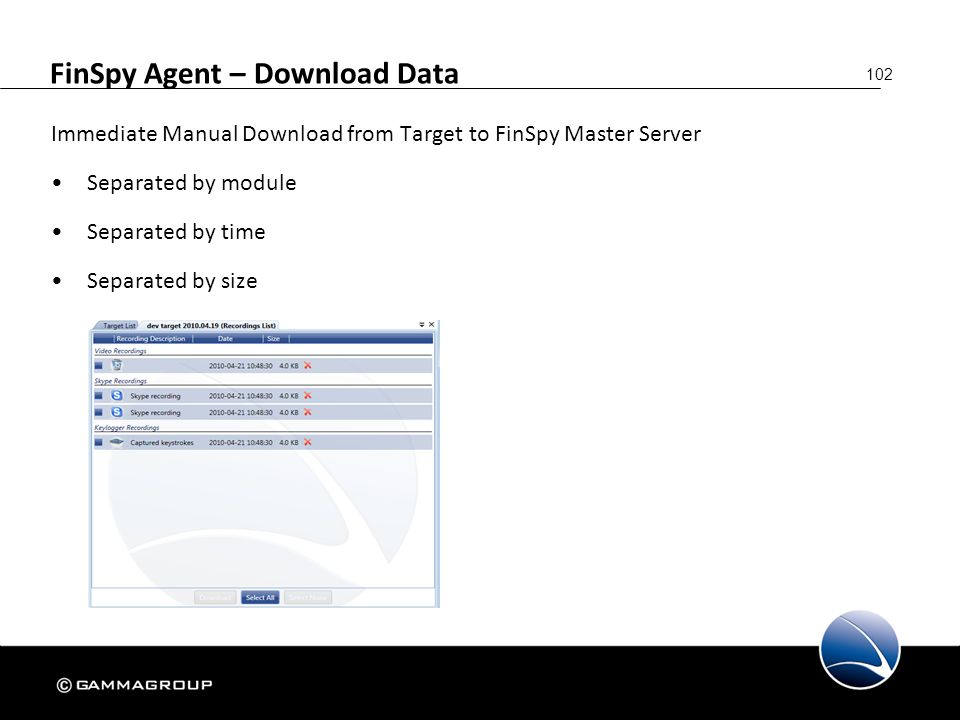 FinSpy Agent – Download Data