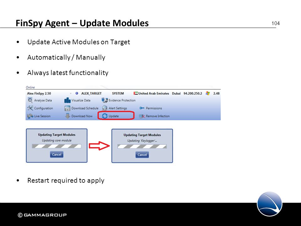 FinSpy Agent – Update Modules