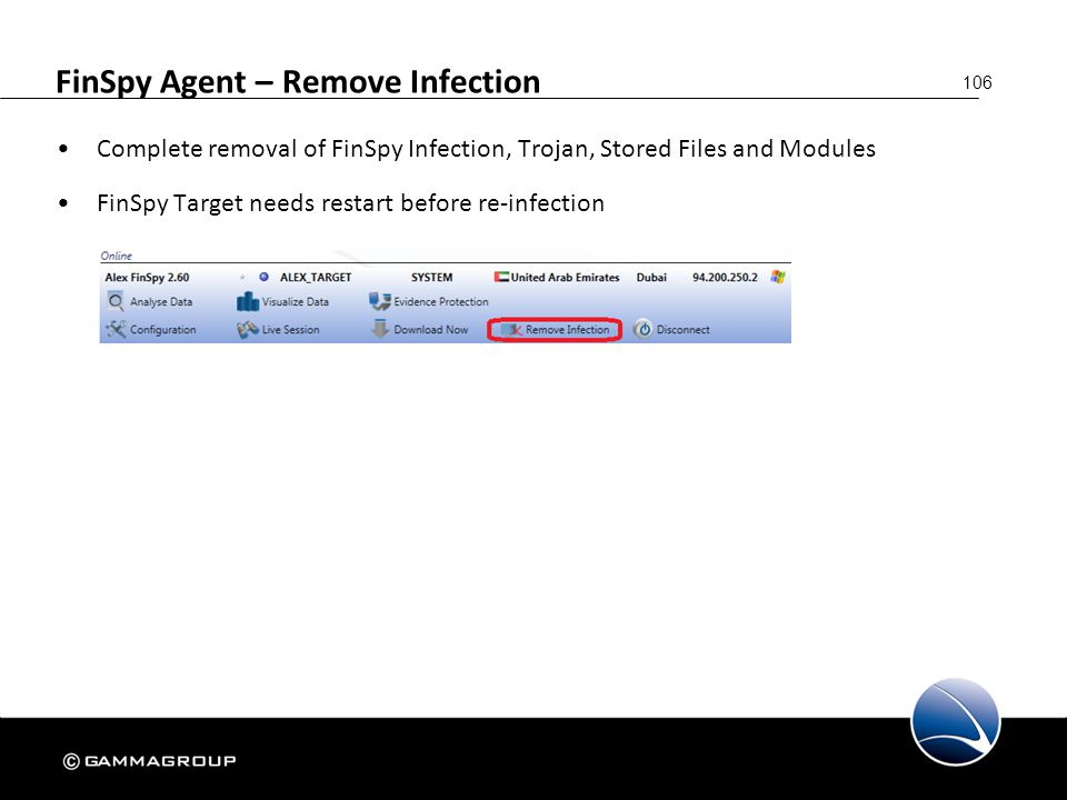 FinSpy Agent – Remove Infection