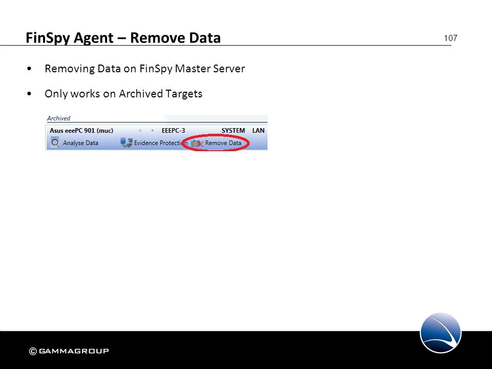 FinSpy Agent – Remove Data
