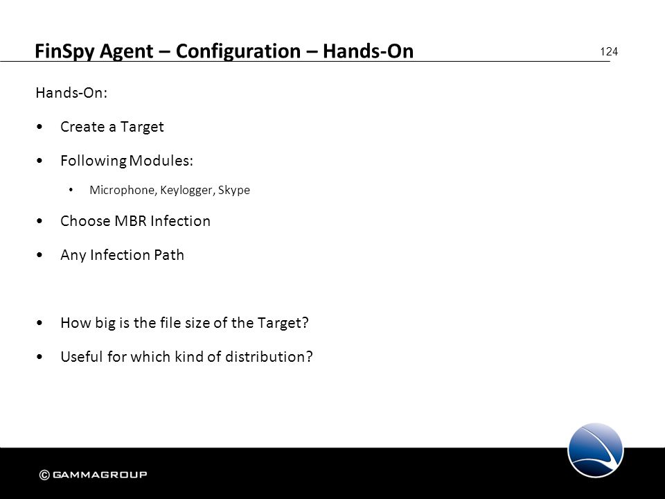 FinSpy Agent – Configuration – Hands-On
