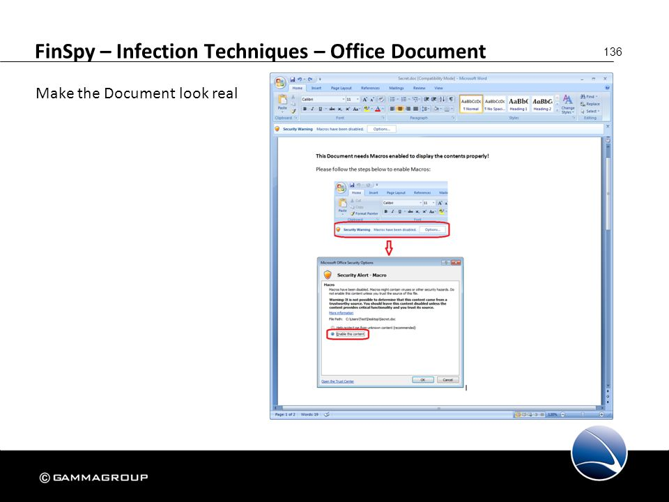 FinSpy – Infection Techniques – Office Document