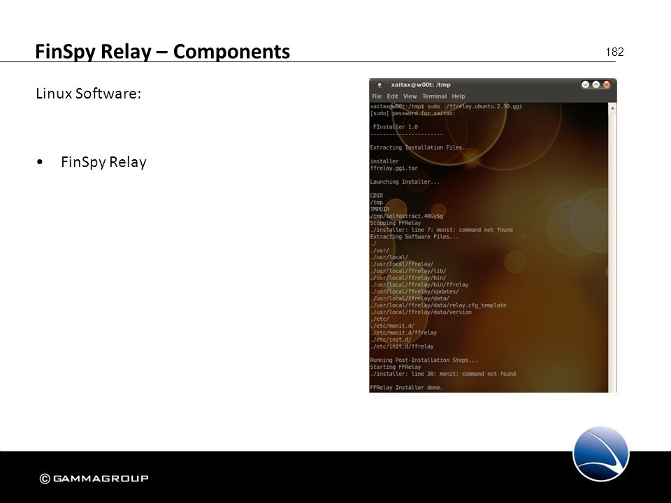 FinSpy Relay – Components