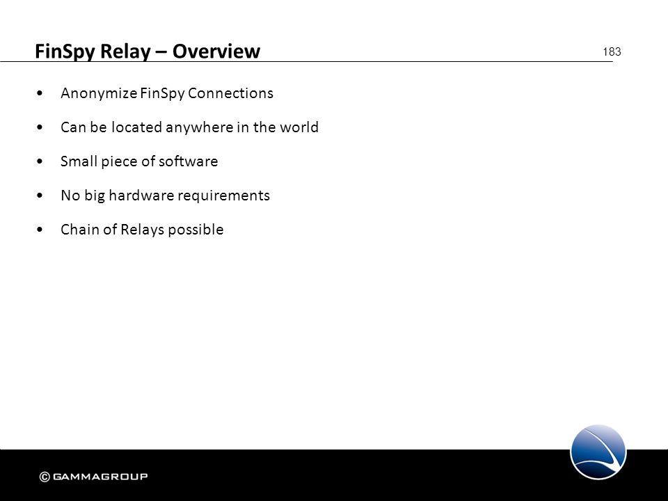 FinSpy Relay – Overview