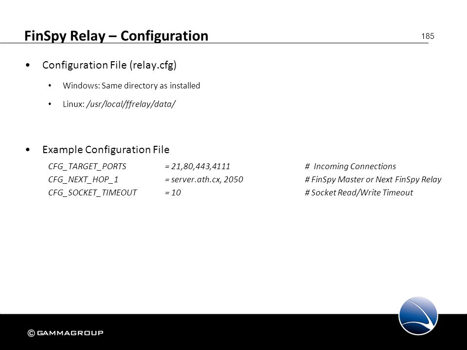 FinSpy Relay – Configuration