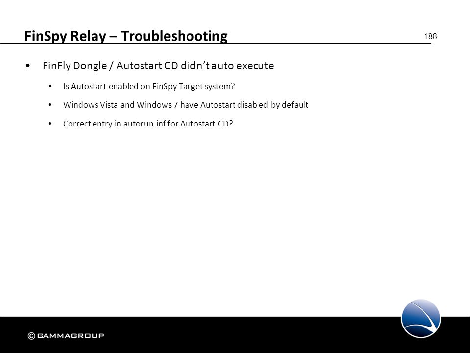 FinSpy Relay – Troubleshooting