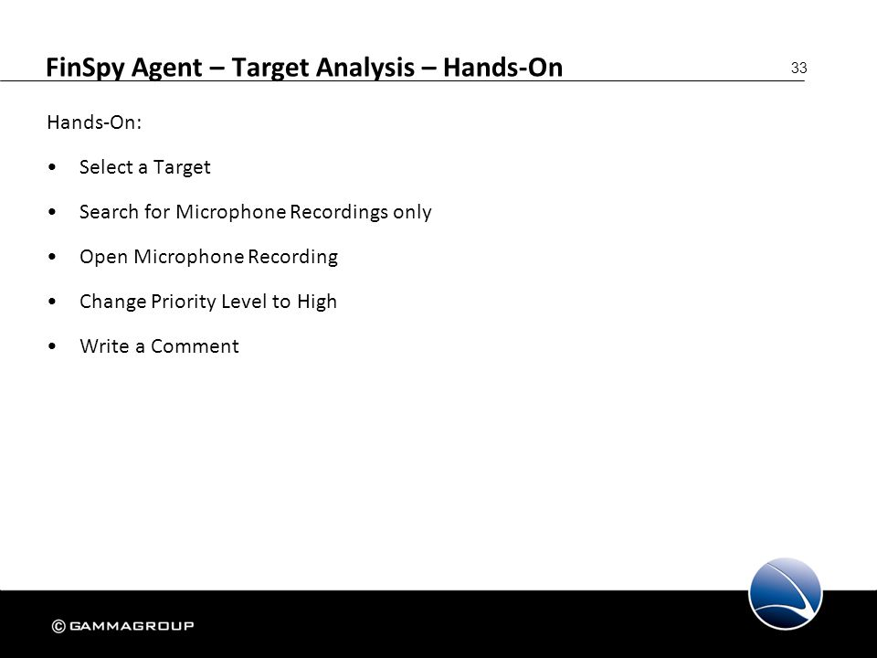 FinSpy Agent – Target Analysis – Hands-On