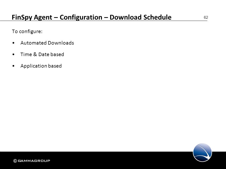 FinSpy Agent – Configuration – Download Schedule