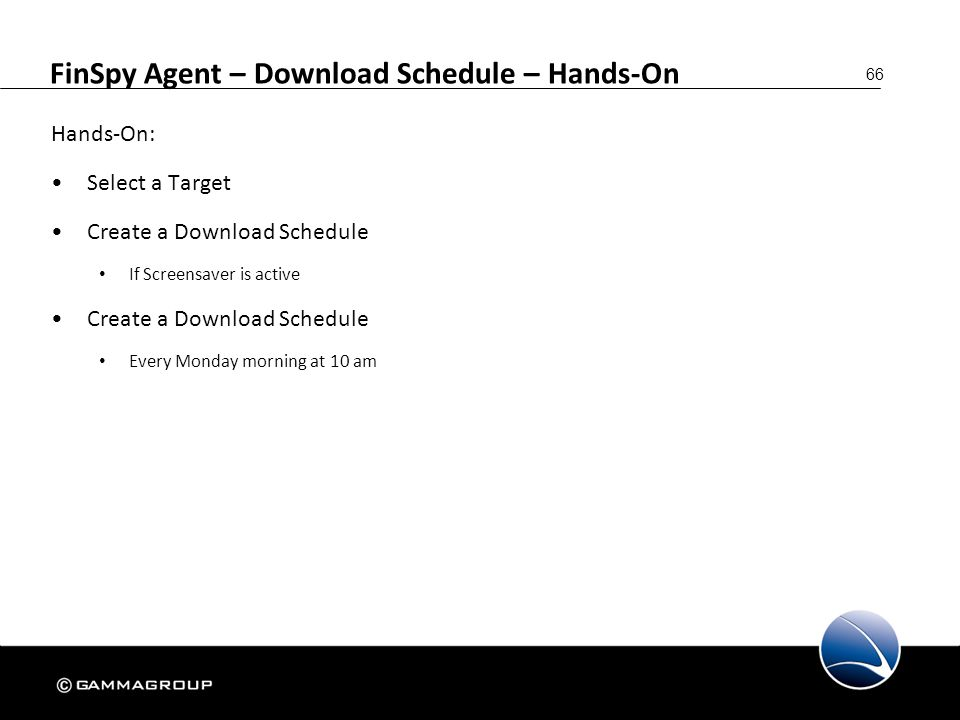 FinSpy Agent – Download Schedule – Hands-On