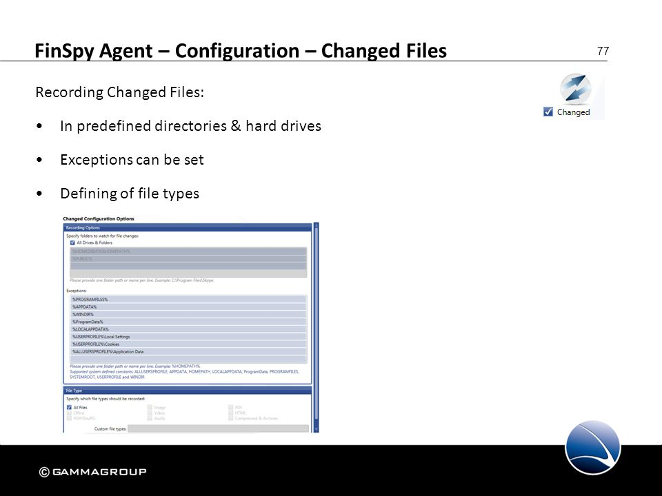 FinSpy Agent – Configuration – Changed Files