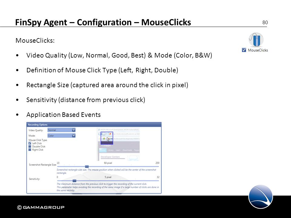 FinSpy Agent – Configuration – MouseClicks