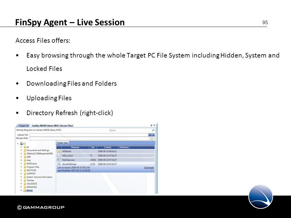FinSpy Agent – Live Session
