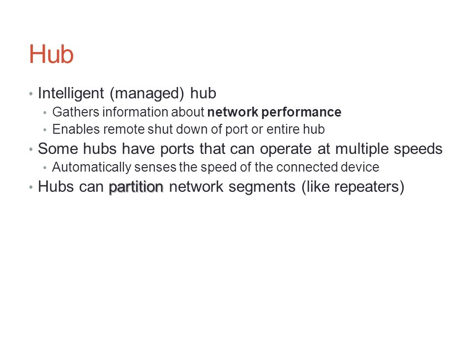 Hub Intelligent (managed) hub