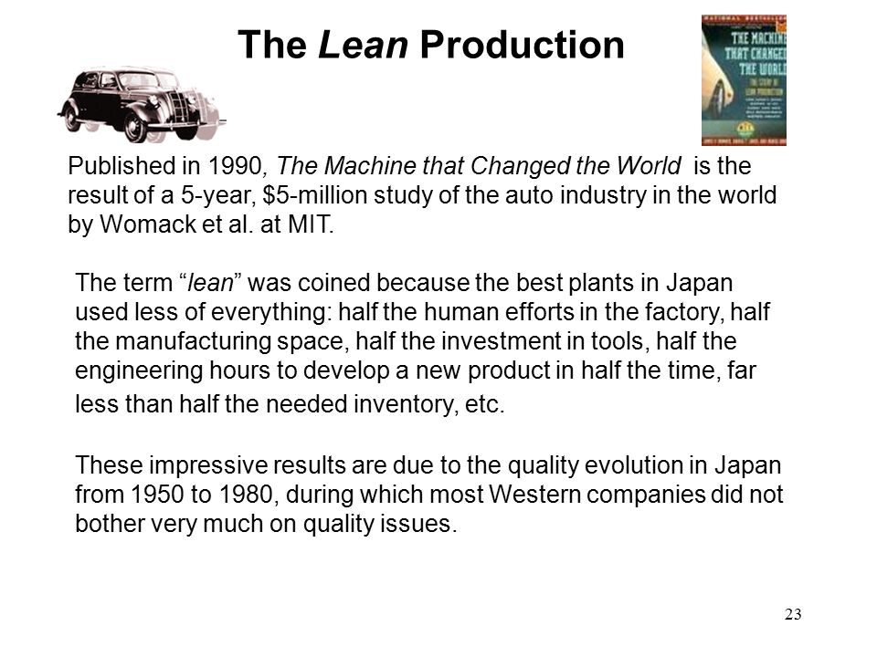 The Lean Production