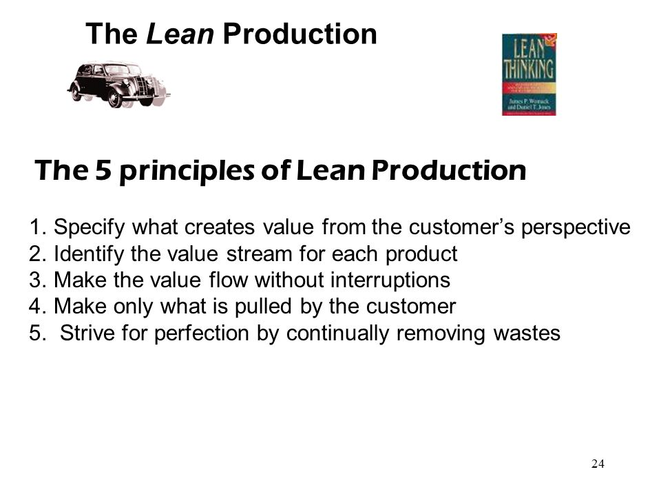 The 5 principles of Lean Production