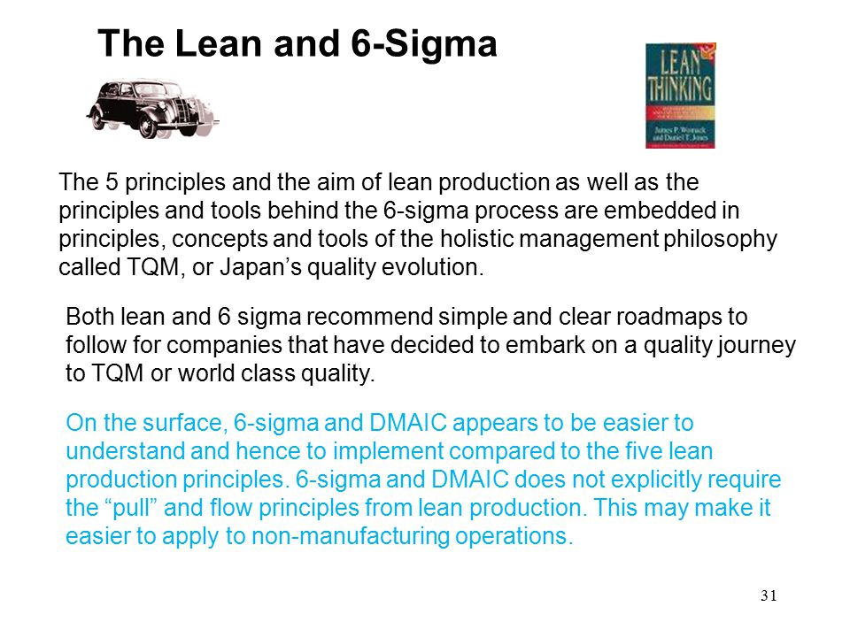 The Lean and 6-Sigma