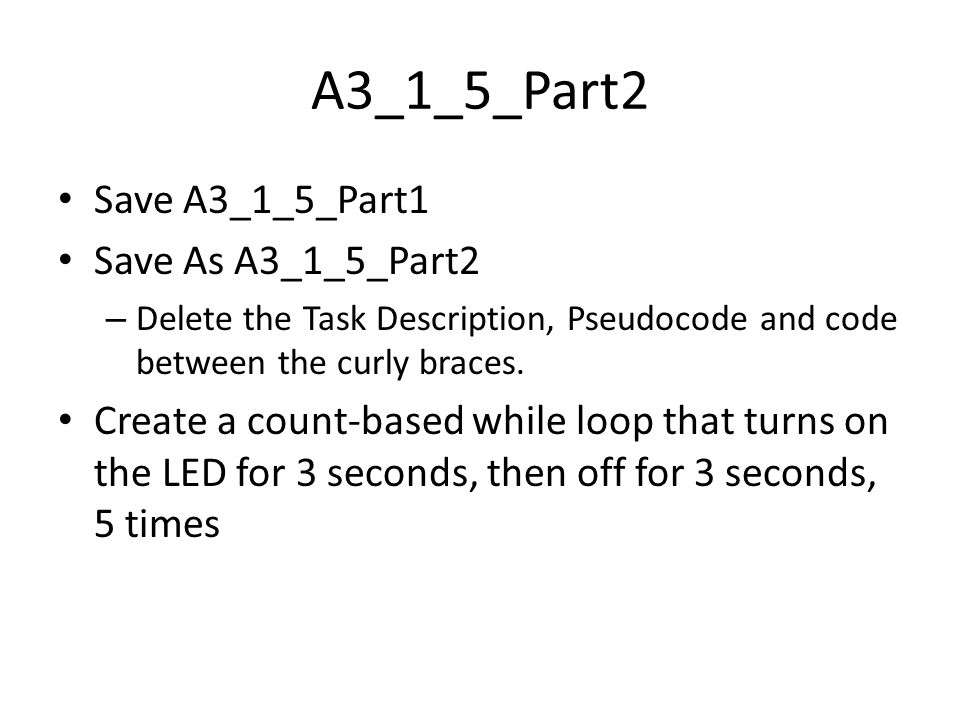 A3_1_5_Part2 Save A3_1_5_Part1 Save As A3_1_5_Part2
