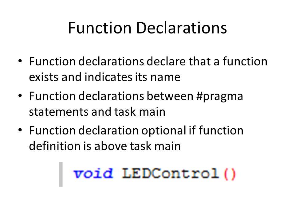 Function Declarations