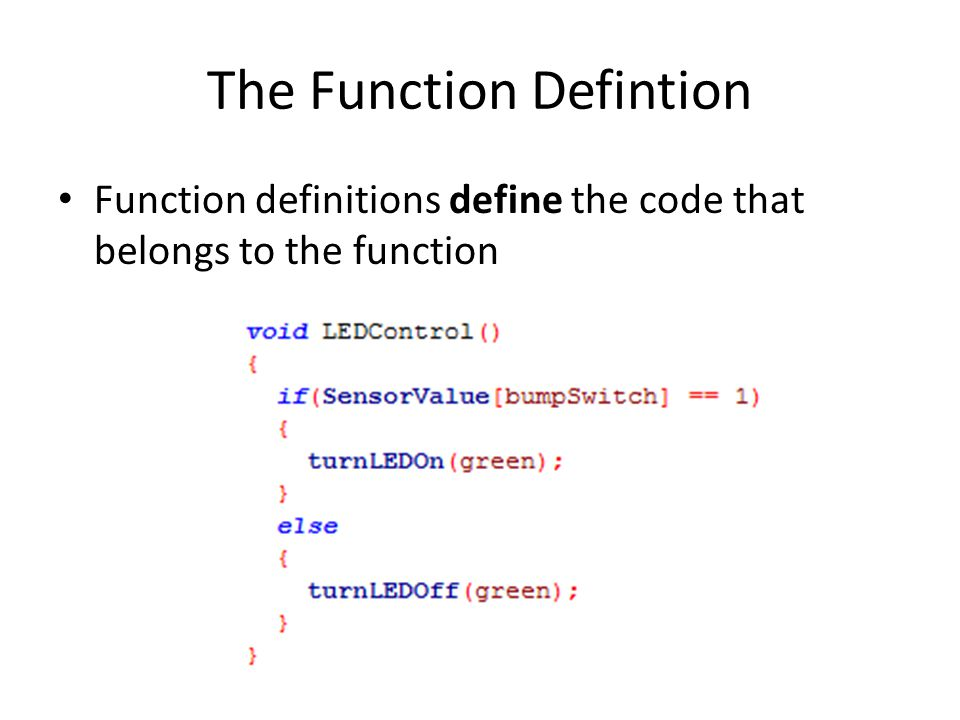 The Function Defintion