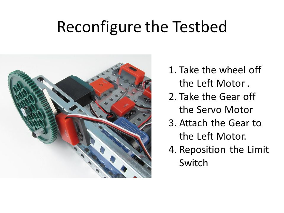 Reconfigure the Testbed