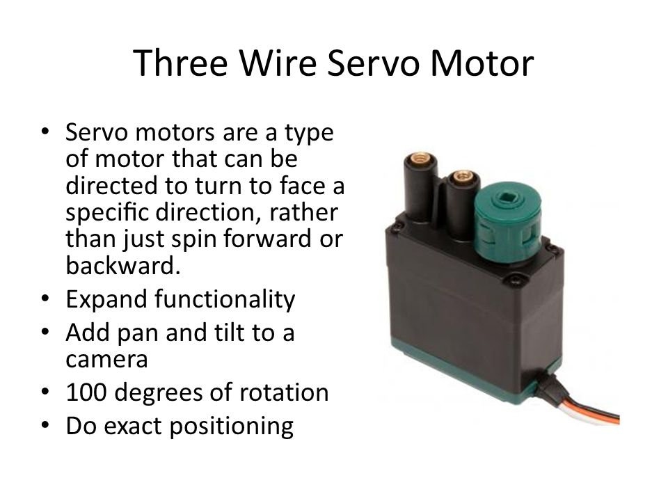Three Wire Servo Motor