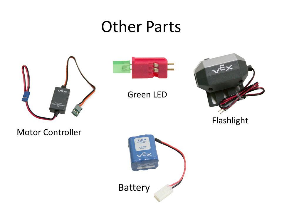 Other Parts Green LED Flashlight Motor Controller Battery
