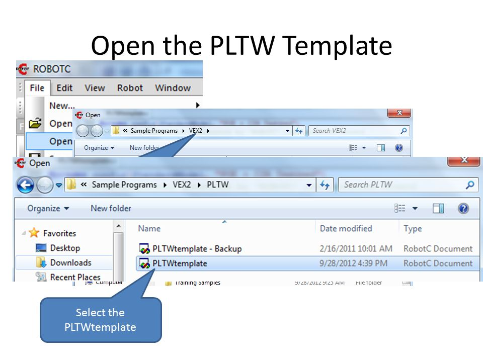 Open the PLTW Template Notice the File Path –