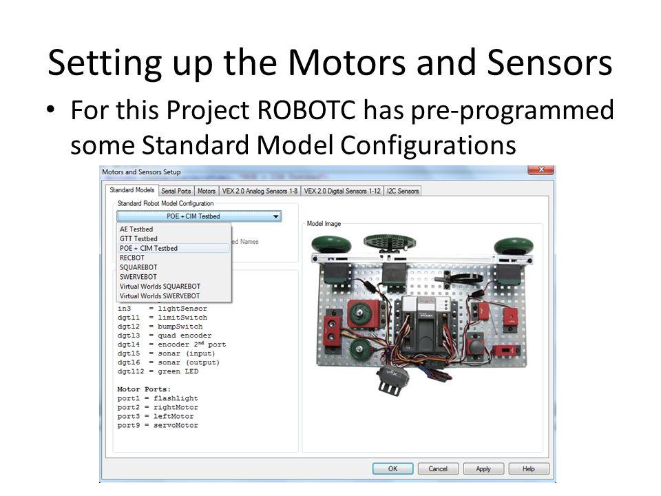 Setting up the Motors and Sensors