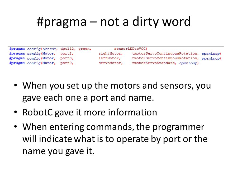 #pragma – not a dirty word