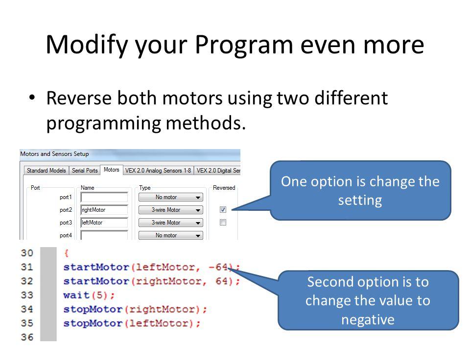 Modify your Program even more