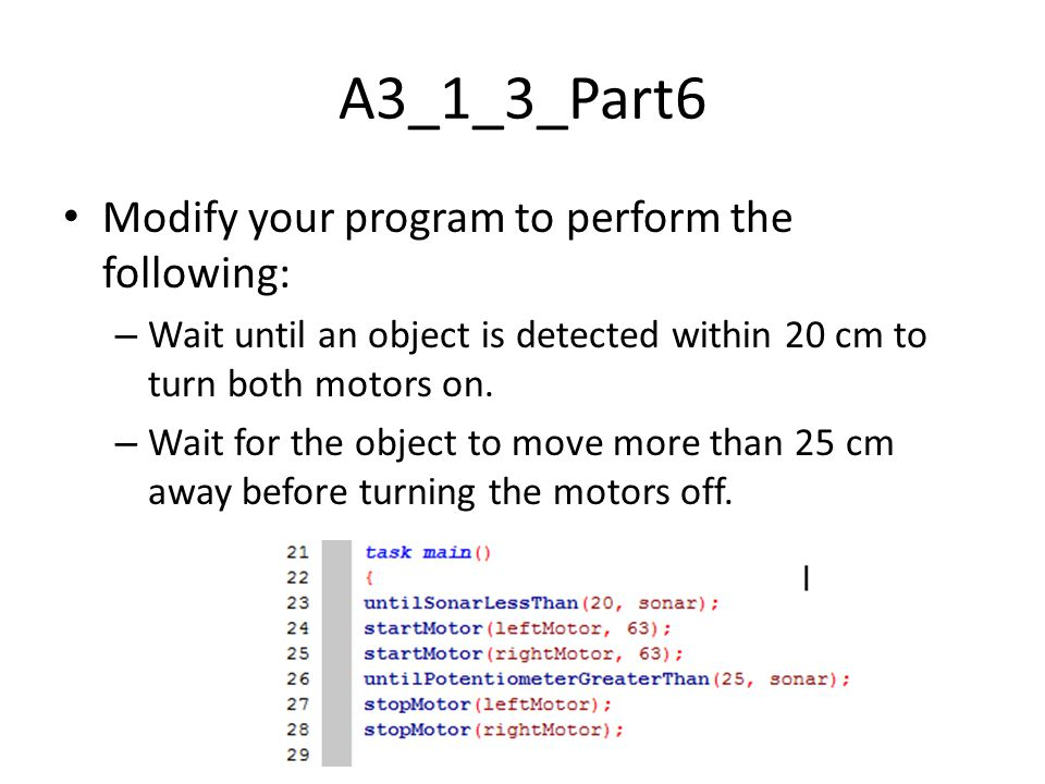 A3_1_3_Part6 Modify your program to perform the following: