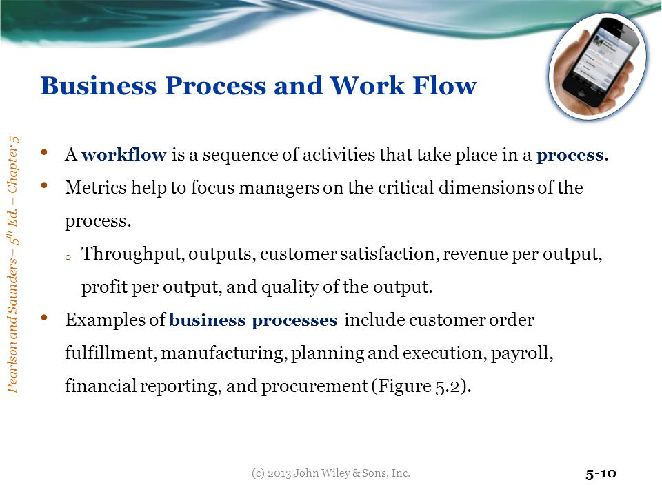 Business Process and Work Flow
