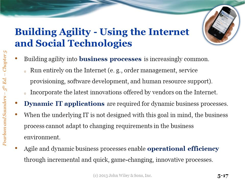 Building Agility - Using the Internet and Social Technologies