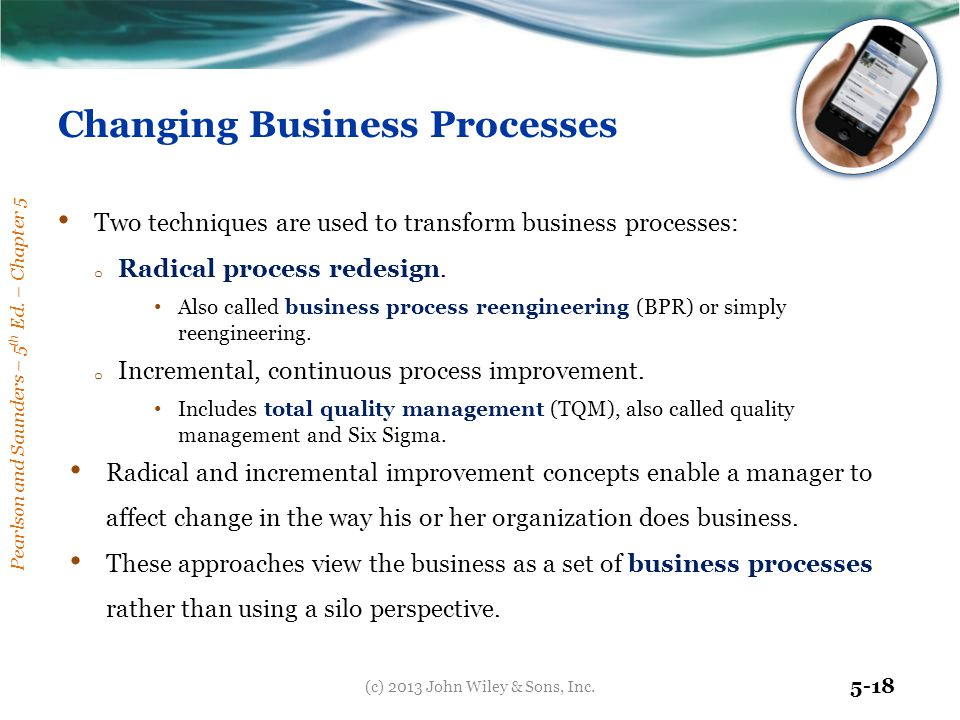 Changing Business Processes