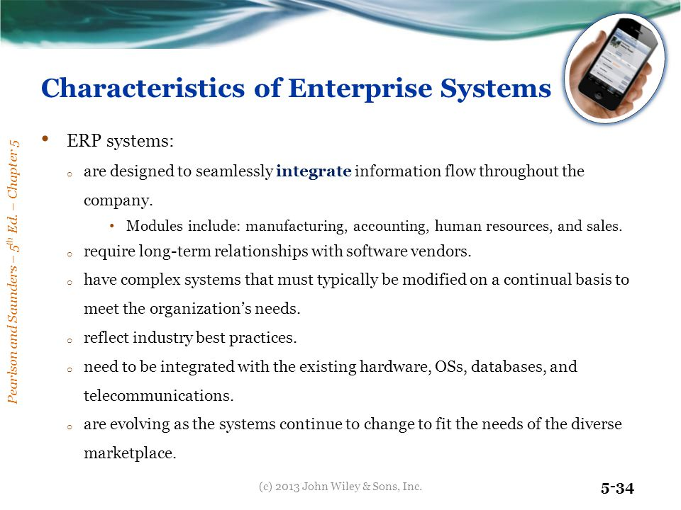 Characteristics of Enterprise Systems
