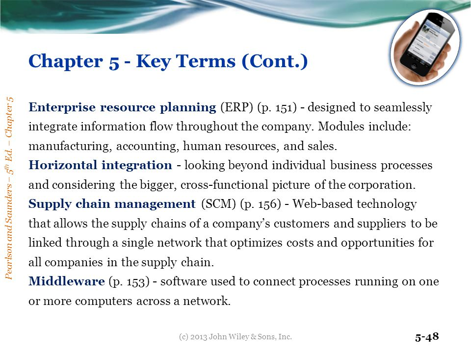 Chapter 5 - Key Terms (Cont.)