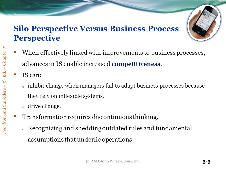Silo Perspective Versus Business Process Perspective