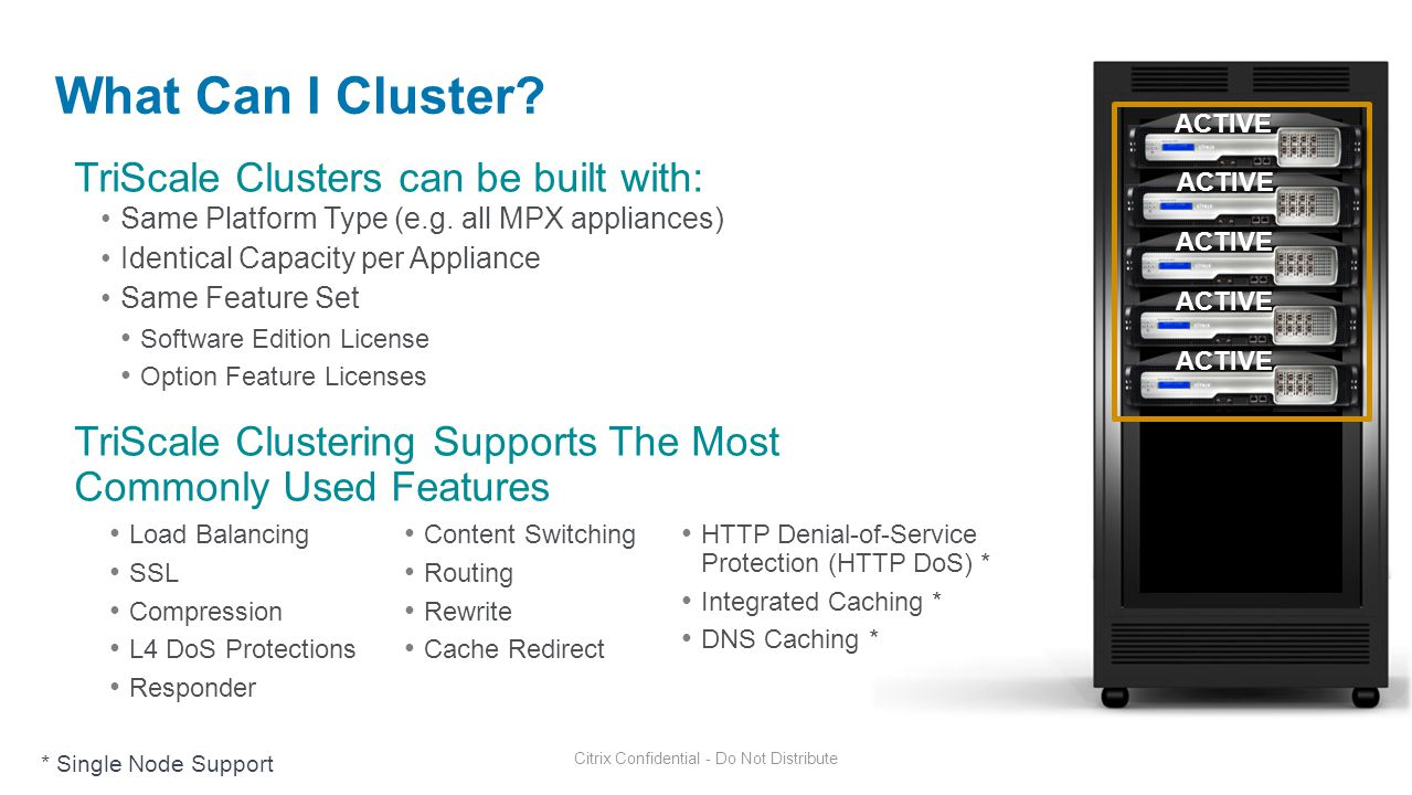 What Can I Cluster TriScale Clusters can be built with: